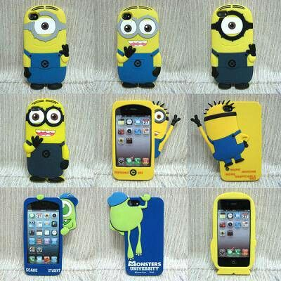 Despicable me minion and mike wazowski monsters inc phone cases