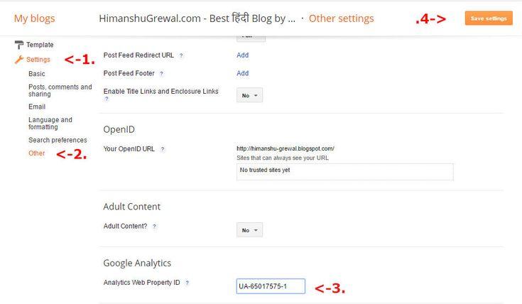 Blogger mai google analytic code kaise lagaye