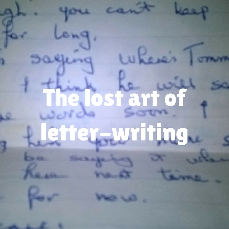 The lost art of letter-writing – Mum Versus boys