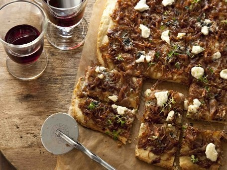 Caramelized Onion & Cheese Squares
