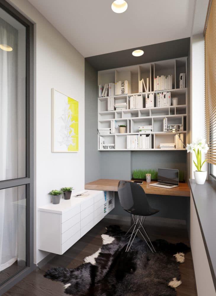 Фото из статьи: Комната на балконе: 6 вариантов освоения крохотной территории