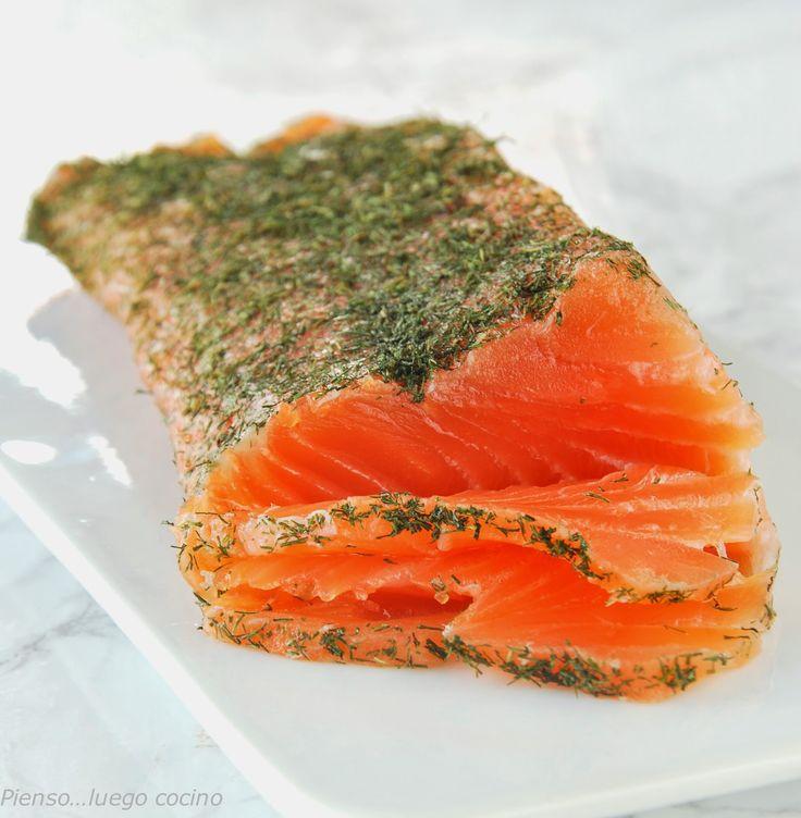 Pienso...luego cocino: salmón marinado, paso a paso