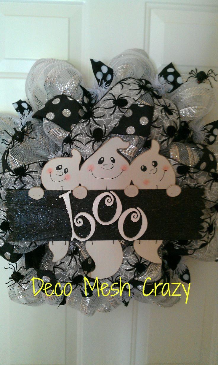 Halloween Deco Mesh Wreath- www.facebook.com/decomeshcrazy