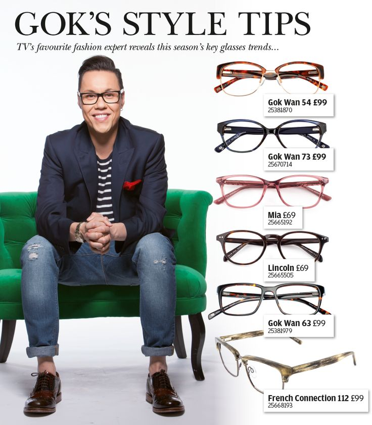 Gok's style tips - TV's favourite fashion expert reveals this season's key glasses trends