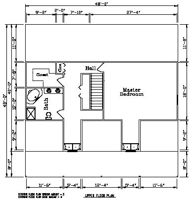 Second level floor plan for the Crestwood 3 with Back Porch: 2,932 Square Feet. #steelhomes #steel  #architecture