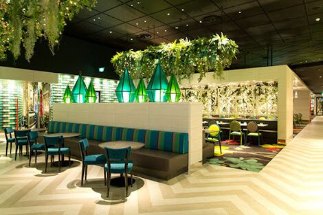Dinning area  Amazing dinning space , great use of colours , furniture , flooring compliments the palette well