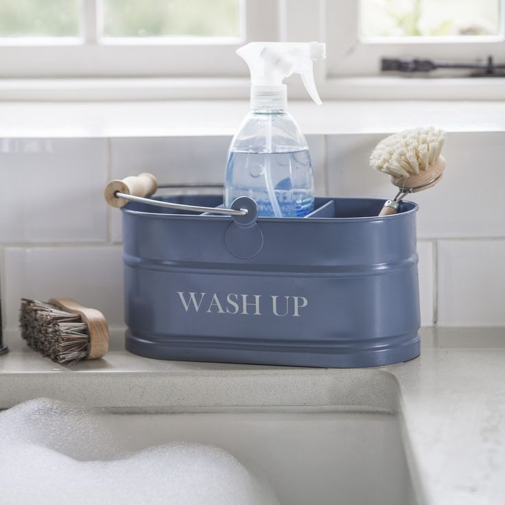 Wash Up Tidy - Dorset Blue
