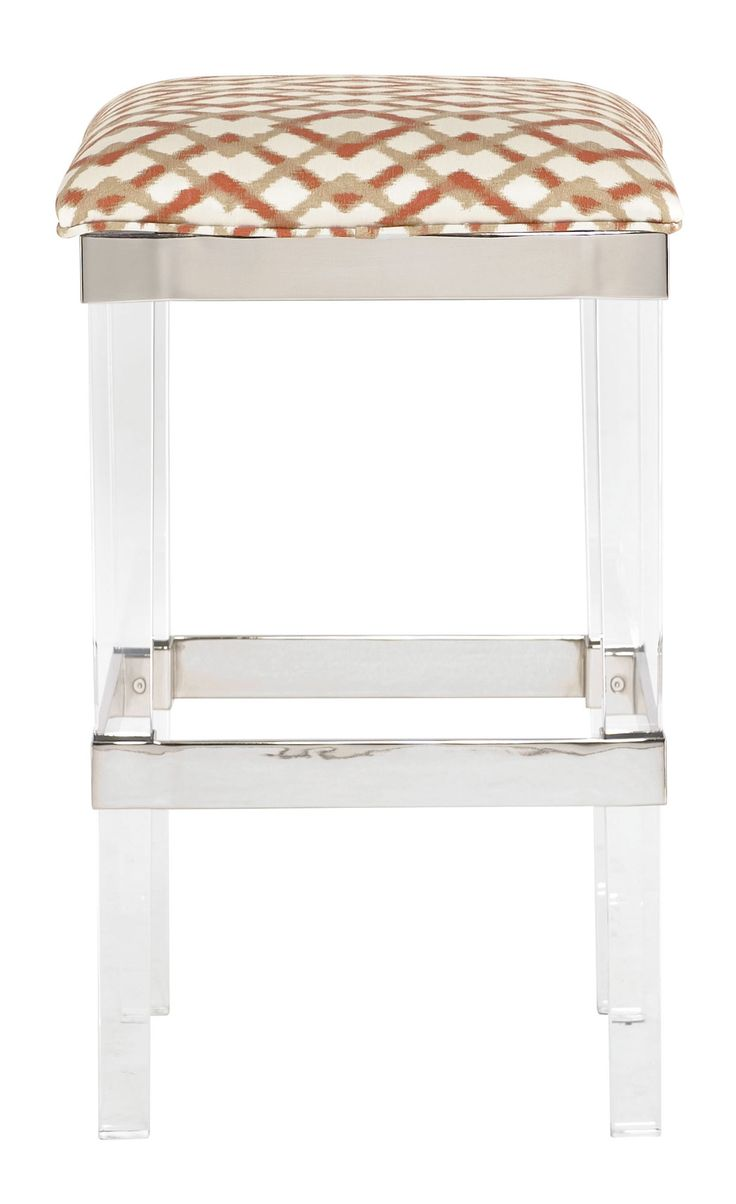 368-582 Soho Luxe Bar Stool | Bernhardt W 17 D 17 H 29 Lucite Acrylic