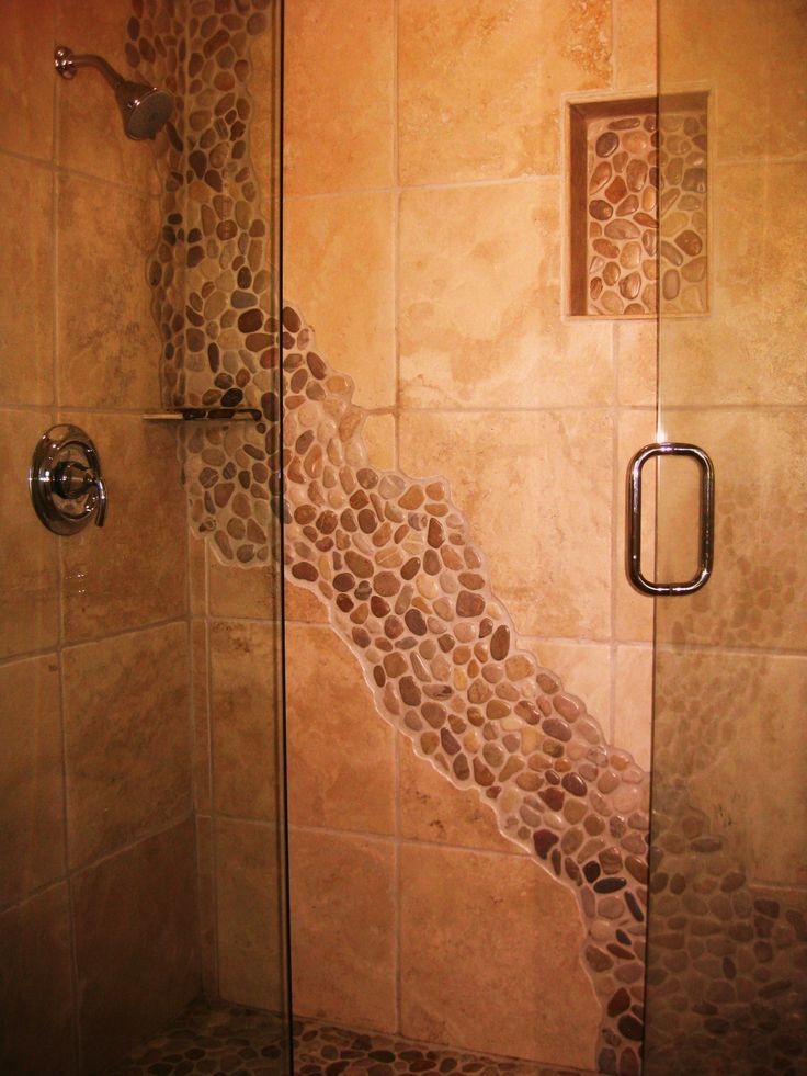river+rock+showers | Our stone river in the shower. | flip this house