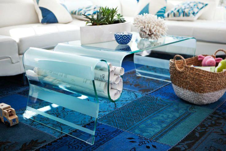 How cool is this sleek table?! | Coastal & Nautical