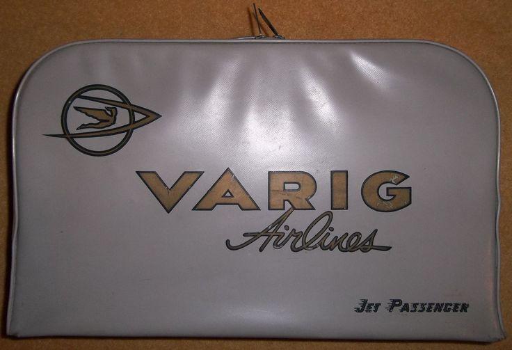 Varig Airlines, Brésil. Très certainement années 50, vu le style. Merci petit Papa Noël 2015 :-)