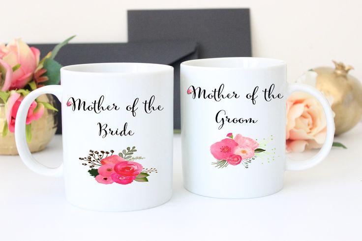 Mother of the Bride and Groom Coffee Mug Set, Wedding Gift