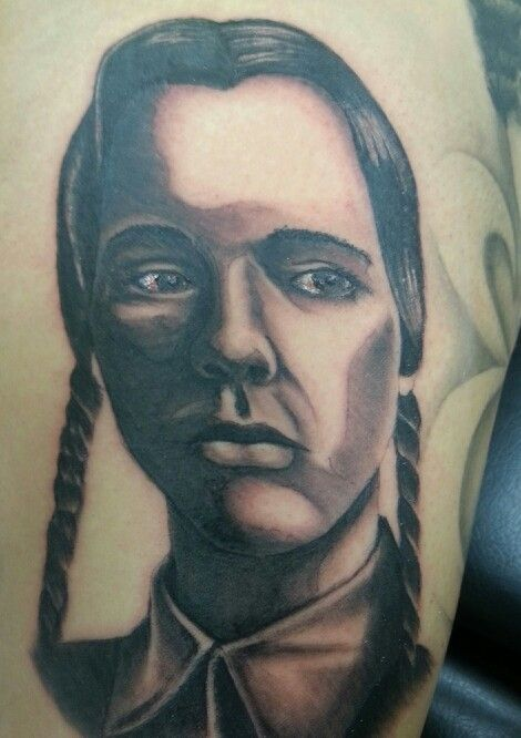 Wednesday Addams portrait. Just finished...will lighten up quit a bit when healed