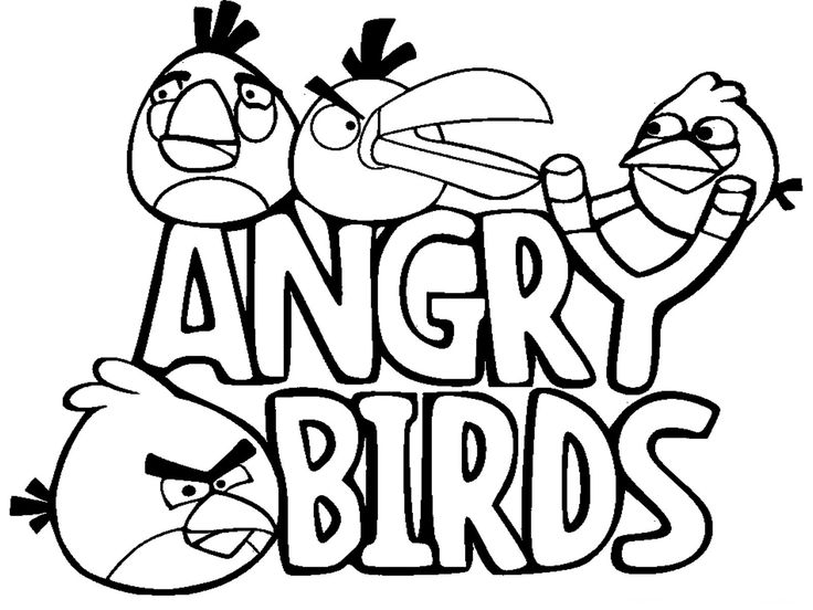 Funny pics to color cartoon coloring pages realistic coloring pages · angry birds funnyfree printable