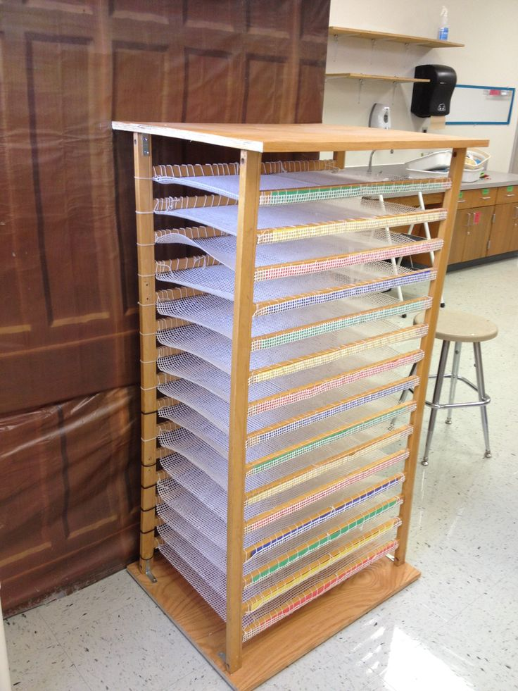Repurposed My Old Crib Into Portfolio Storage In Classroom By Julie Bates
