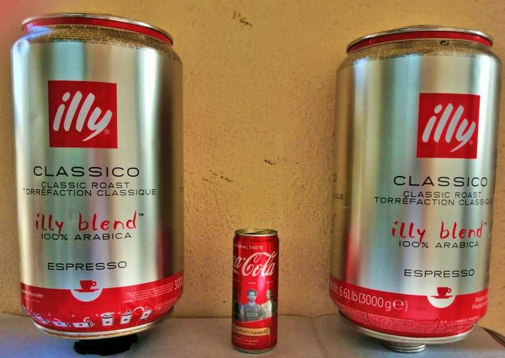 Two empty illy Big can of coffee beans medium roast 3kg in 2020 | Canning, Illy, Coffee beans
