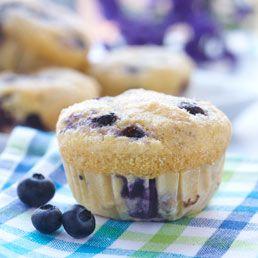 Muffins aux bleuets et à la semoule de maïs