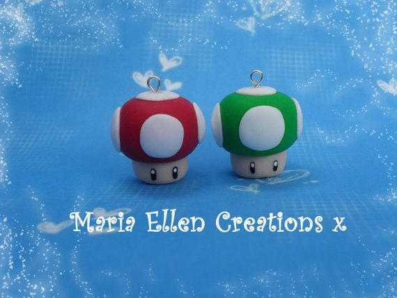 Super Mario Mushroom inspiré charme par MariaEllenCreations sur Etsy