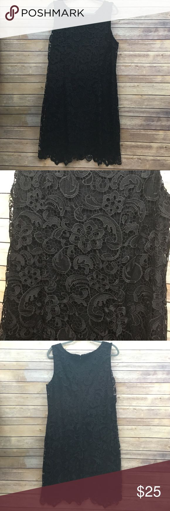 Black Lace Dress This is a beautiful black lace dress from Worthington that was worn once to my college graduation. It is super flattering and was worn under my graduation gown for most of the day, so it is in good condition. No trades. Worthington Dresses