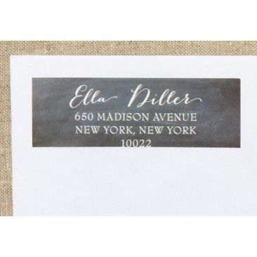 Check out this item at One Kings Lane! S/80 Custom Address Labels, Blackboard
