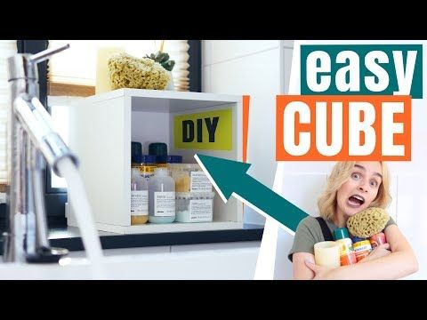 der easy CUBE! WÜRFEL Regal ganz easy & schnell DIY - dieFrickelbude - YouTube
