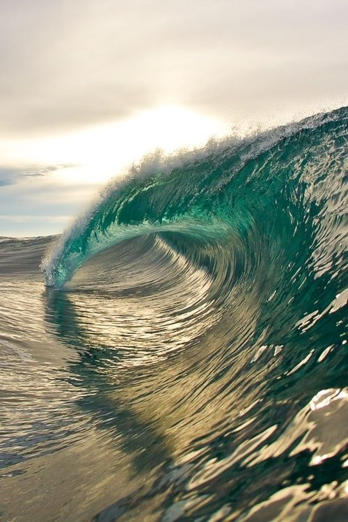 Perfect curling surfing wave at the beach on a hot summer day. For more OCEAN inspiration FOLLOW http://www.pinterest.com/happygolicky/beach-beach-beach-off-to-the-coastal-chic-cottage-/