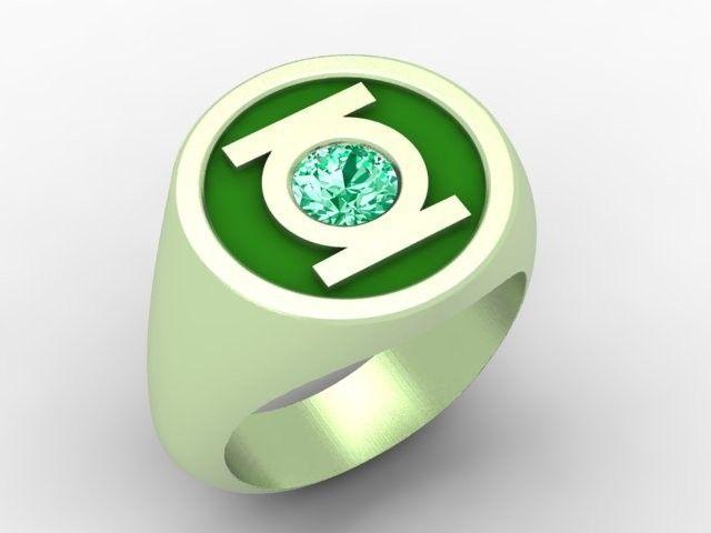 Green lantern men's wedding ring models for gentlemen pictures