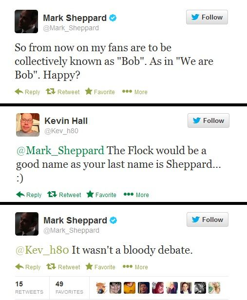 This is exactly why I love Mark Sheppard! Completely awesome.