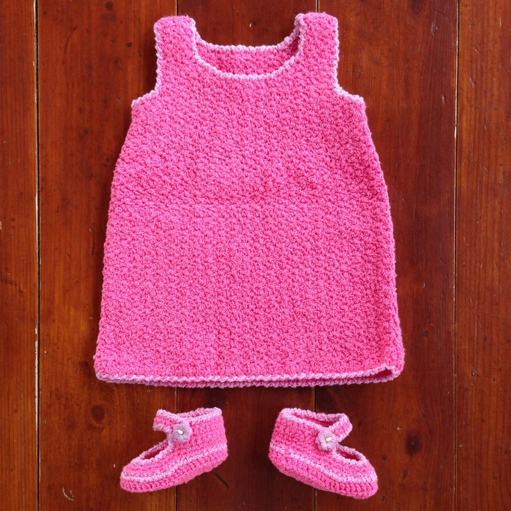 Crochet baby dress by ruscrew on Etsy