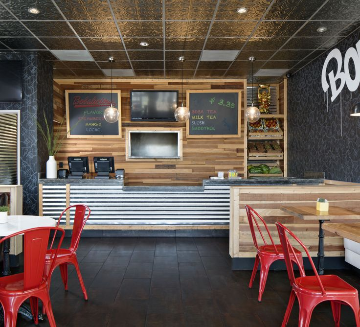 Boba tea shop modern and industrial style see more work from corine maggio natural designs