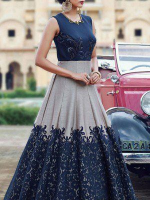 a74fad8f17e01b Designer Party Wear Evening Gowns | Long Ethnic Gowns - Zipker.com ...