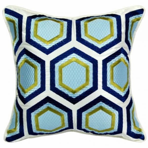European Abstract Contemporary Decorative Pillows For Couch Geometric  Hexagon Print Cheap Sofa Cushions