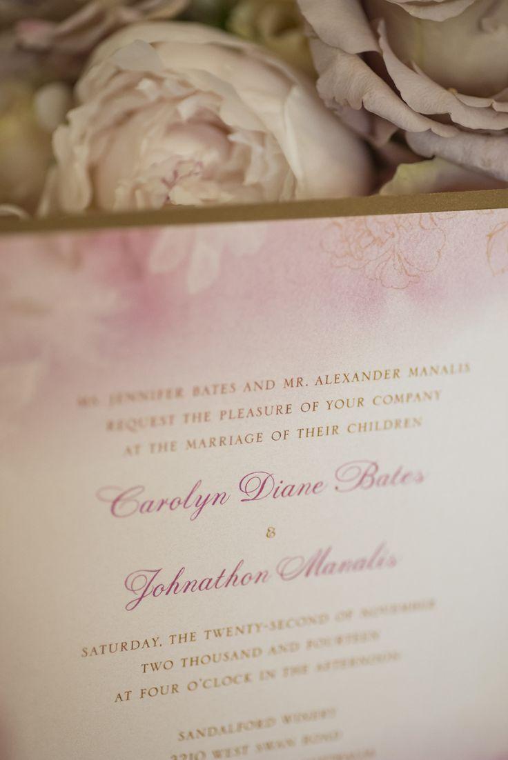 Such pretty softness in this invite