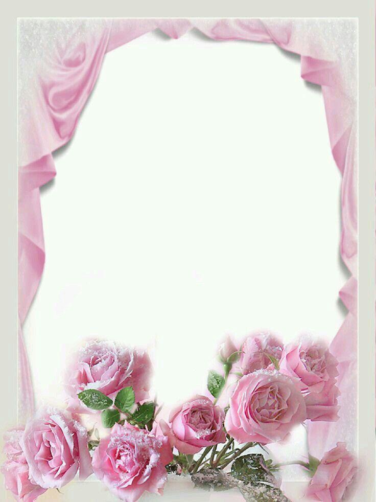 Рамки с розами для поздравления, подарков