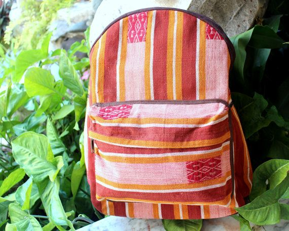 Colorful Tribal Backpack Heavy Canvas and by SiameseDreamDesign