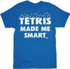 Tetris Made Me Smart Blue Mens T-Shirt