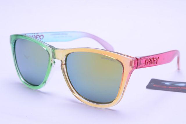 Oakley Frogskins Sunglasses Colorful Frame Gray Lens 0385 [ok-1385] - $12.50 : Cheap Sunglasses,Cheap Sunglasses On sale