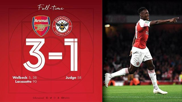 Arsenal Defeats Brentford Thanks To Goals From Lacazette And Danny Welbeck 2 Arsenal Brentford Soccer Match
