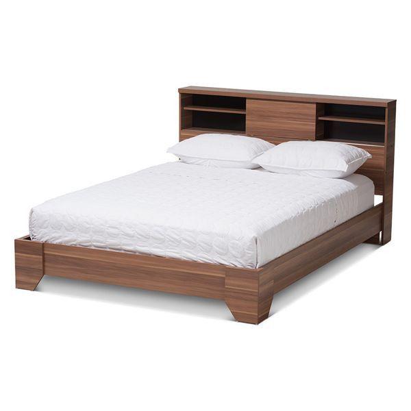 Vanda Platform Queen Bed Houzz Wood Platform Bed Queen Size