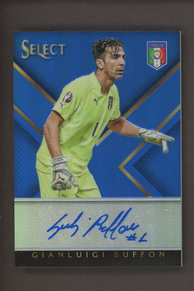 cheaper 58681 bdaf2 2015-16 Select Soccer Blue Prizm Gianluigi Buffon Signed ...