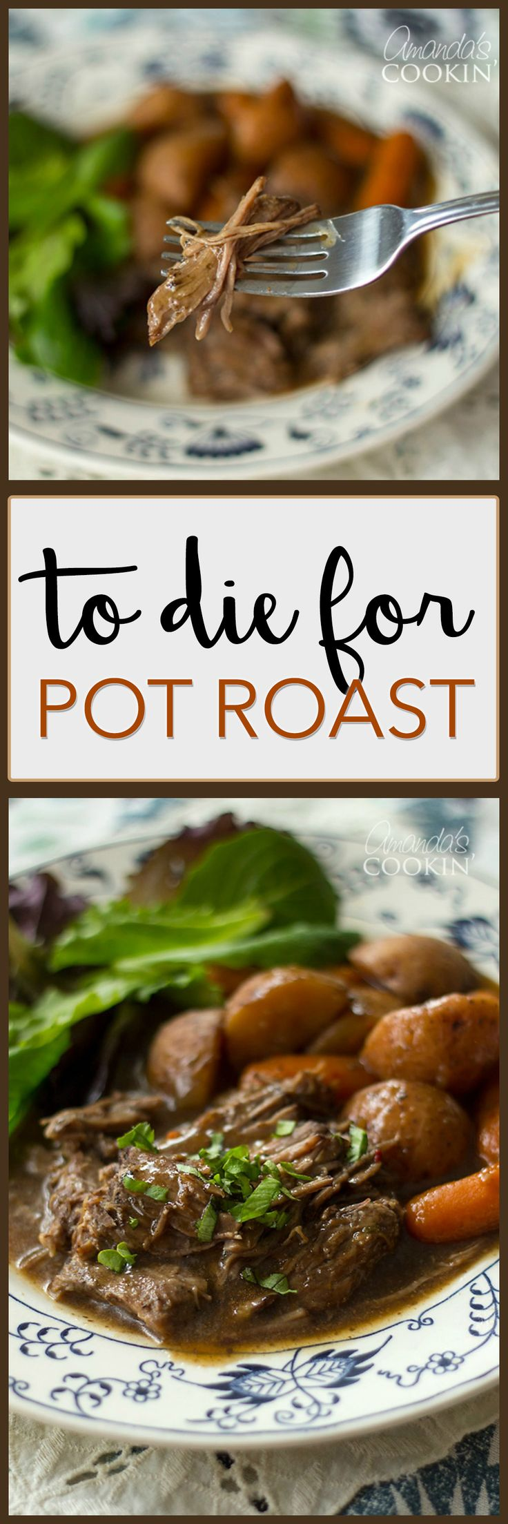"I have been making this slow cooker ""To Die For Pot Roast"" for many, many years. This roast only needs a few ingredients and cooks all day to perfection."