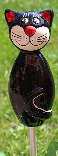 Keramik-Katze Beetstecker Figur Dekofiguren Garten (Schwa... https://www.amazon.de/dp/B01FFV0GAC/ref=cm_sw_r_pi_dp_x_VfljybWHNACGR