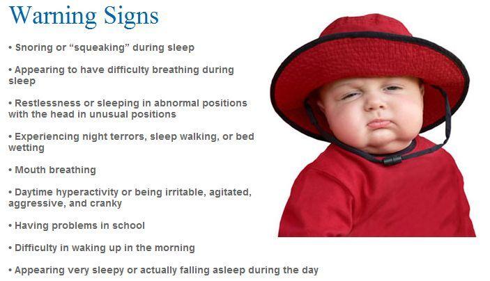 Symptoms of Sleep Apnea (OSA) in children