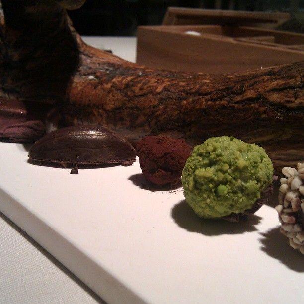 Redonculous petite four. Pistachio, hazelnut, double chocolate #filthygoodfood