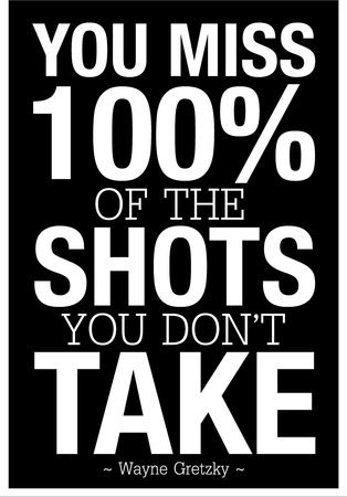 You Miss 100% of the Shots You Don't Take (Black) Poster at AllPosters.com