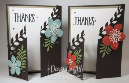 Hi Stampers, Today we will be making this beautiful gate fold card , But not just any gate fold card ... We will be making the fancy edge along the gate fold using the Botanical Builder Framelits . T
