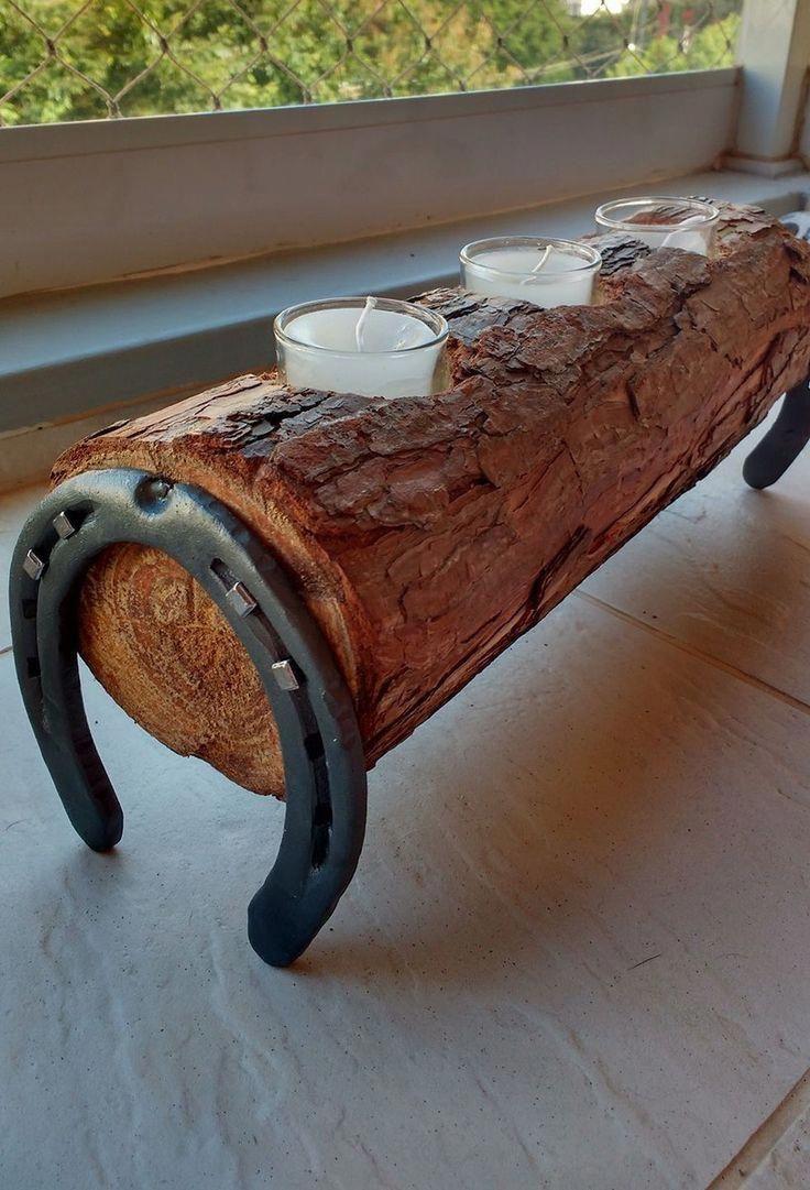 Do It Yourself – Hufeisen-Kerzenhalter #upcycling #holz #holz #horseshoe #kerzen #licht #diy #Creativedecor