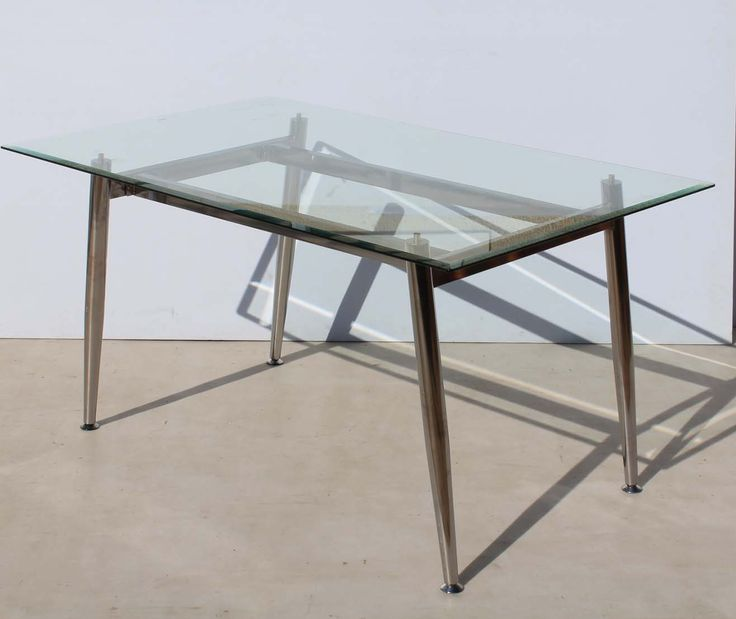 Retro Chrome Dining Room Table with Bevelled Glass Top Condition:  Used  Retro Chrome Dining Room Table with Bevelled Glass Top  size of table: 1530 L x 930 W x 750 H  no chipmarks on glass  R3499 for the table  Cell 076 706 4700  Tel 021 - 558 7546  www.furnicape.co.za  0426