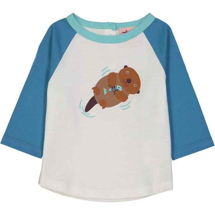Fargo Otter Raglan on Organic Cotton.  From Tootsa MacGinty. Available at Modern Rascals.