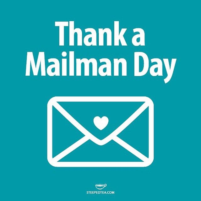 What would we do without our mailmen and women? They are a huge part of our business! Be sure to thank them today! #steepedtea  http://www.steepedtea.com